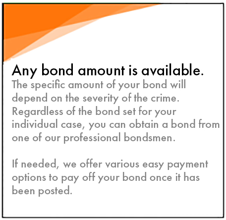 any bond amount is available 2 - Bail Bonds